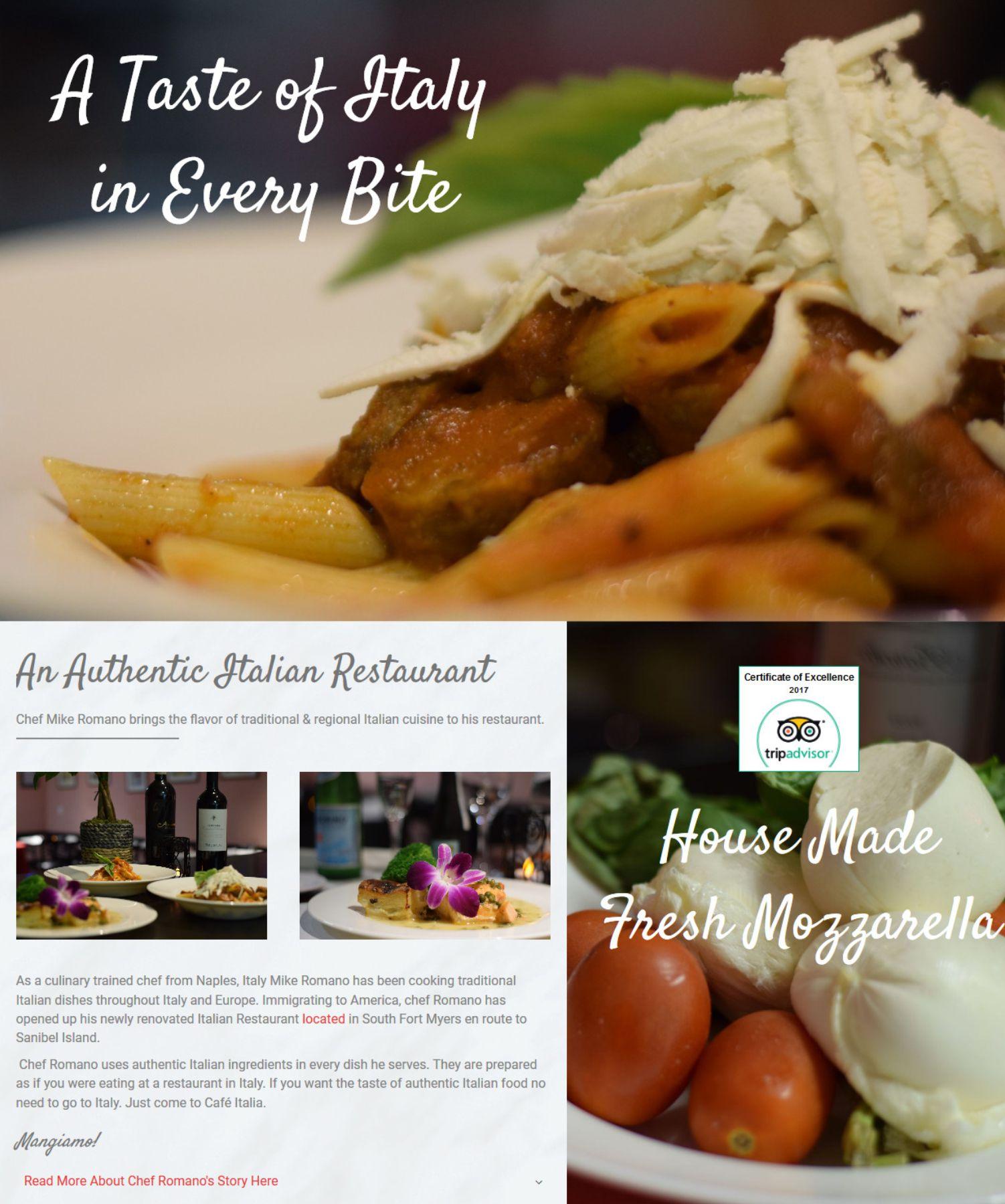 Restaurant Website Design Fort Myers