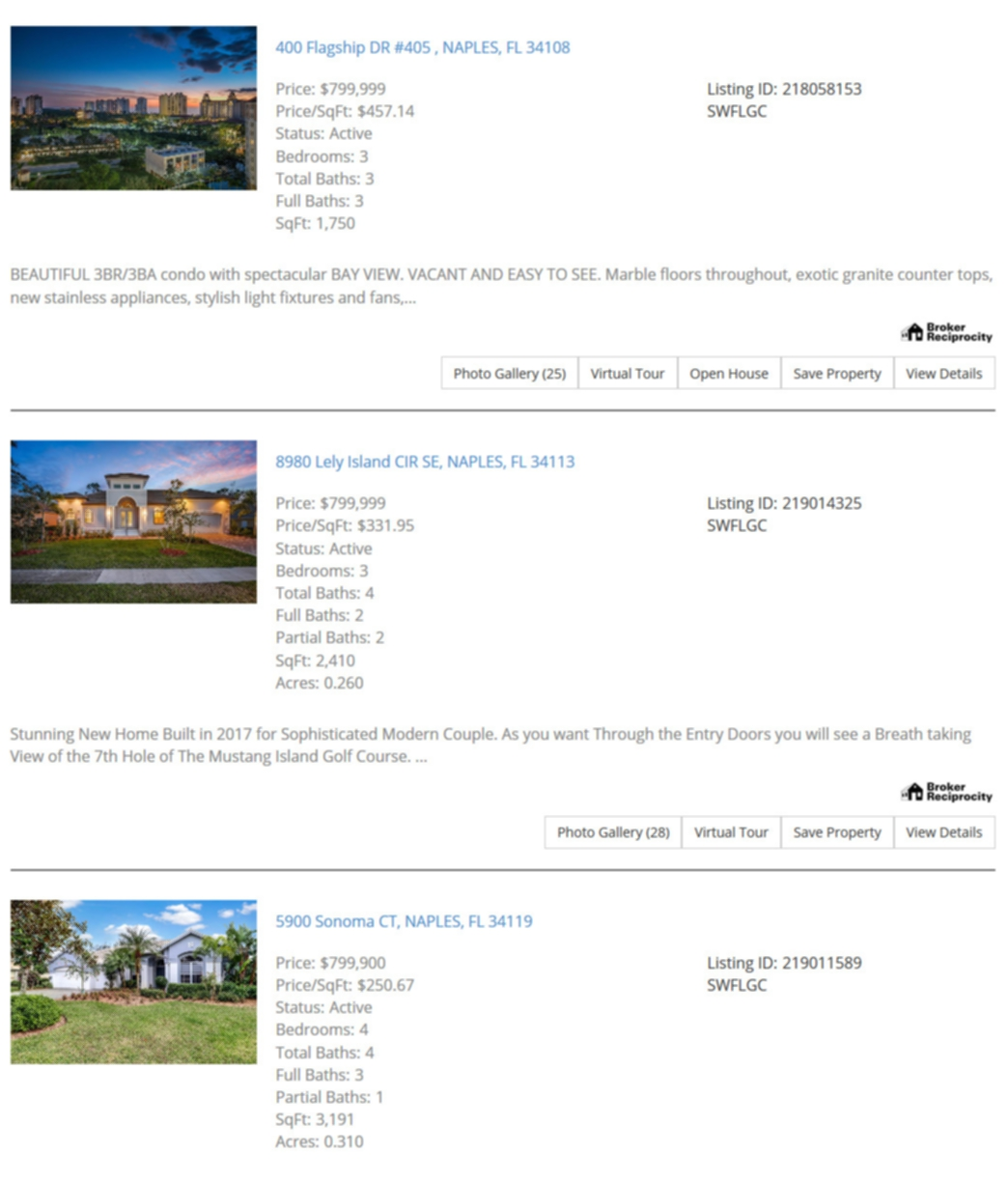 Mobile Friendly listings